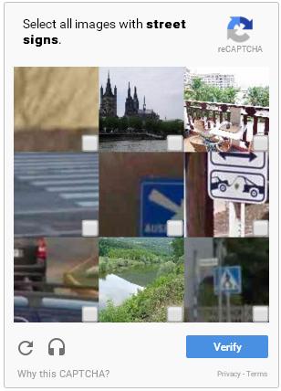 reCAPTCHA hecho para Google Maps