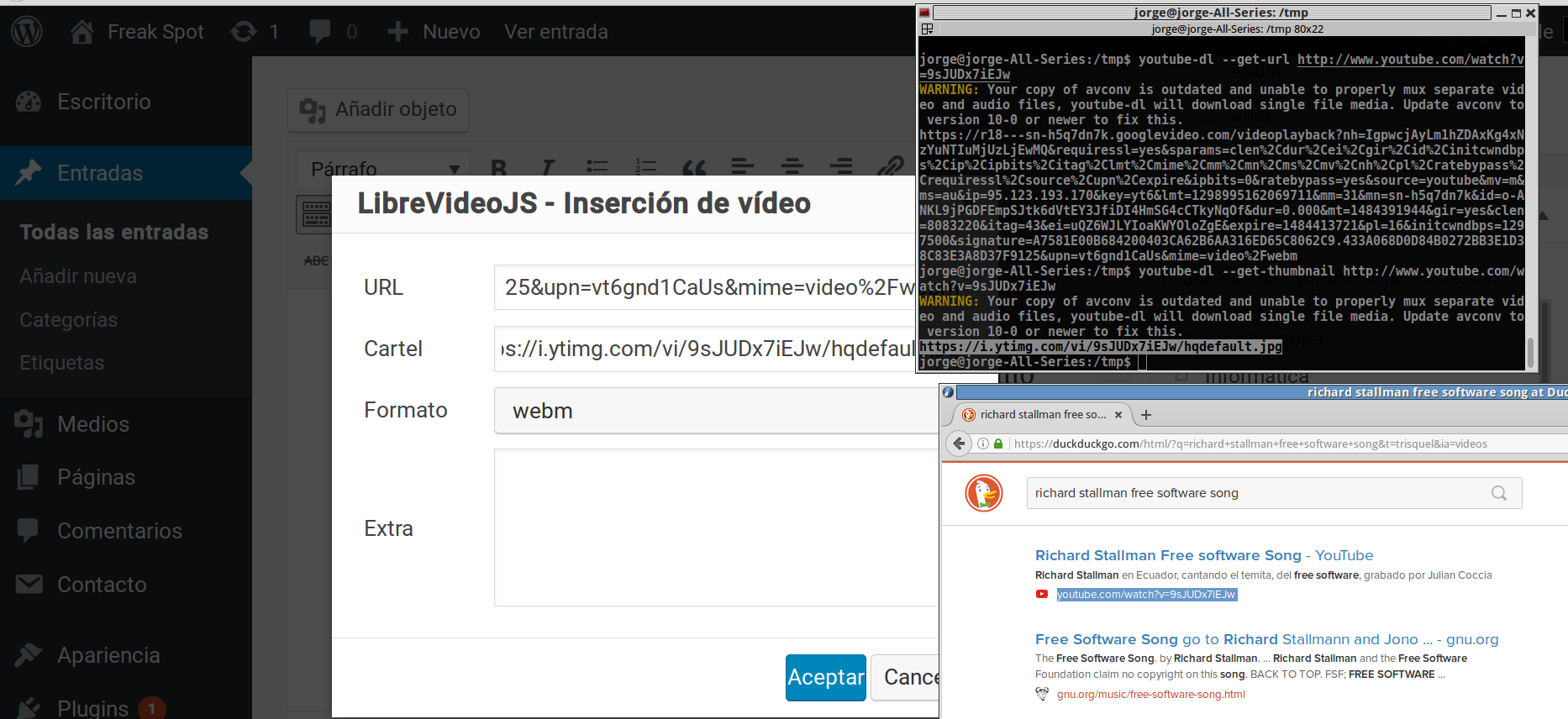 Usando LibreVideoJS HTML Player