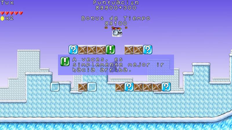 Una pista para encontrar pingüinos ocultos en ReTux